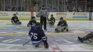 SLED-TO-SLED COMPETITION: Toledo Walleye take on Walleye Sled Hockey team tonight at Huntington Center