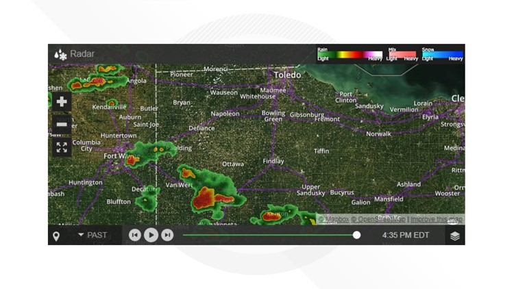 Tornado warning issued for for Van Wert, Allen counties; no severe threat for Toledo area