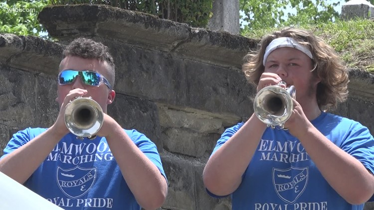 Elmwood High School band provides soundtrack for Wayne's Memorial Day ceremony