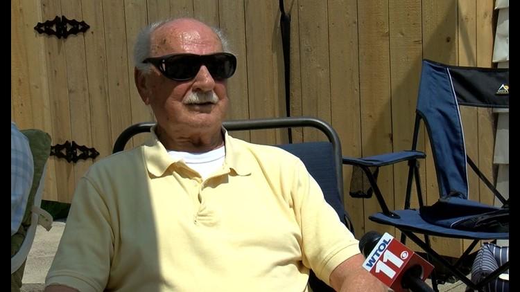 WWII vet, witness to atomic bomb, celebrates 95th birthday