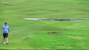 Golf courses dealing with saturated spring
