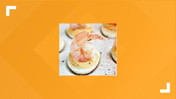 BBQ Grilled Shrimp Deviled Eggs