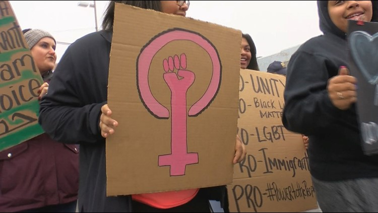 Women take to the streets of Toledo for I Rise Unity March