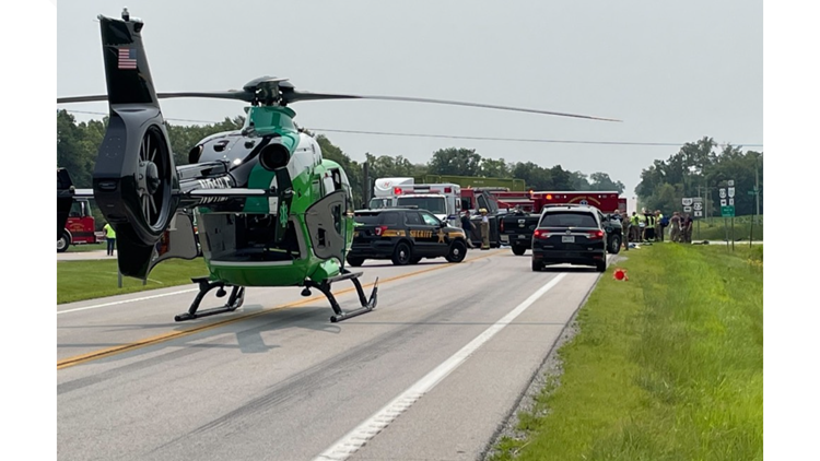 Medical helicopter called to scene of 3-car crash near Wood County, Sandusky County line