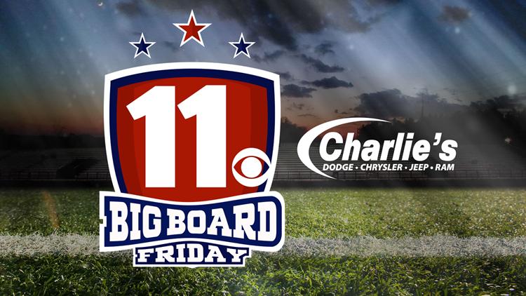 Live H.S. football scores | Charlie's Dodge Chrysler Jeep Ram Big Board Friday