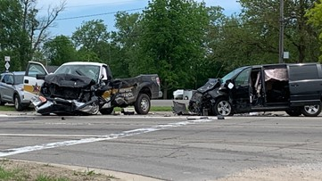 Driver of Monroe Sheriff animal control vehicle in critical condition after serious traffic crash