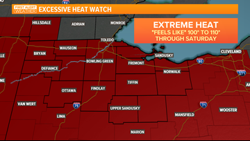 Excessive Heat Watches issued as major heat wave moves in