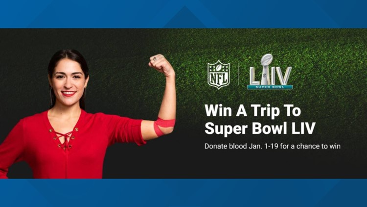 How giving blood can send you to Super Bowl LIV
