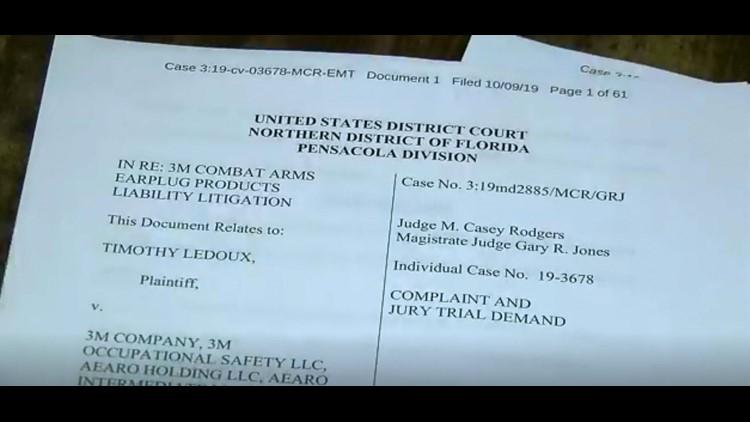 Tim LeDoux 3M earplug lawsuit