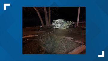 Police: Alcohol suspected in crash where driver hit multiple trees, two utility poles
