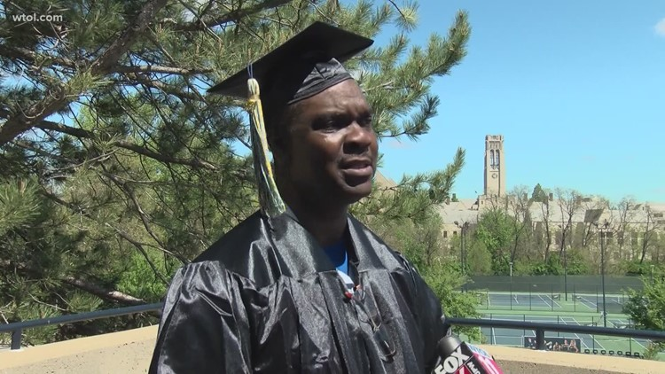 Redemption story | Pardoned after serving 27 years of life sentence, Toledo man graduates from University of Toledo