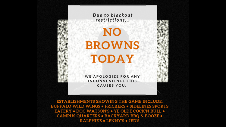 6 Cleveland Browns games will not be televised on WTOL this year, so