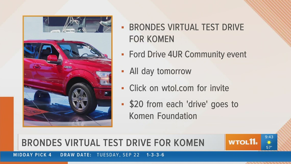 Test drive a vehicle virtually for Susan G. Komen Northwest Ohio