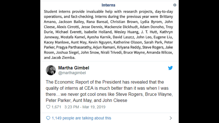 Batman, Spider-Man, Jabba the Hutt listed as interns in White House report