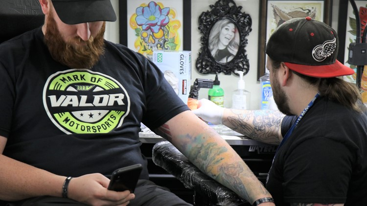 Andrew Casida of Point Place gets a Friday the 13th tattoo special