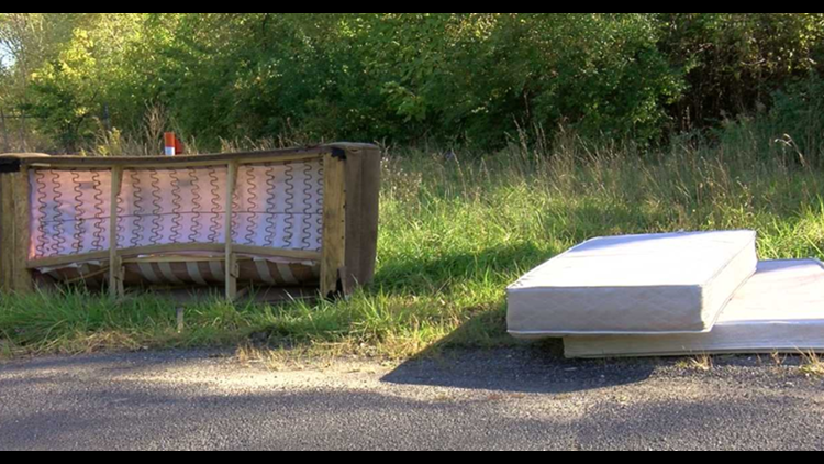 East Toledo woman fed up with illegal dumping in neighborhood
