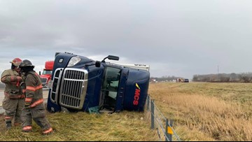 Police: Rollover semi crash on US 23 caused by high winds