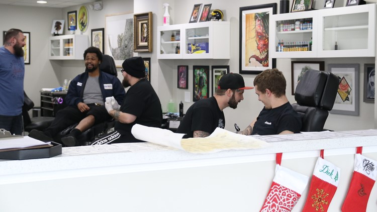 Several customers at Toledo Tattoo Company participated in Friday the 13th