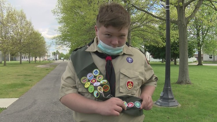 Elmore teen with autism joins brothers in earning rank of Eagle Scout