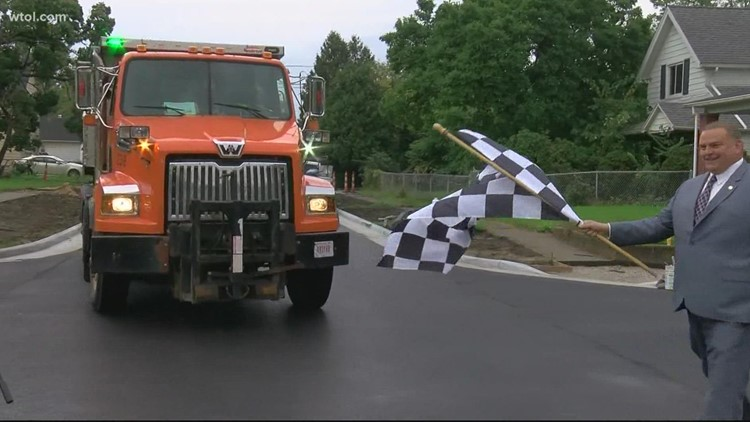 Toledo crews wrap up residential road construction for the season