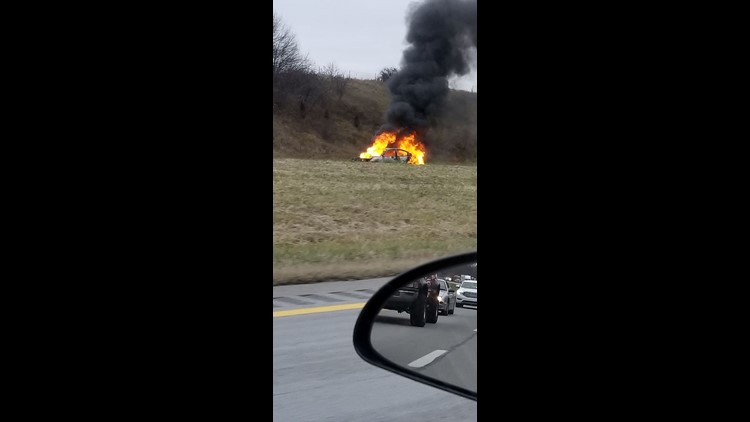 Police investigating vehicle fire on NB I-475