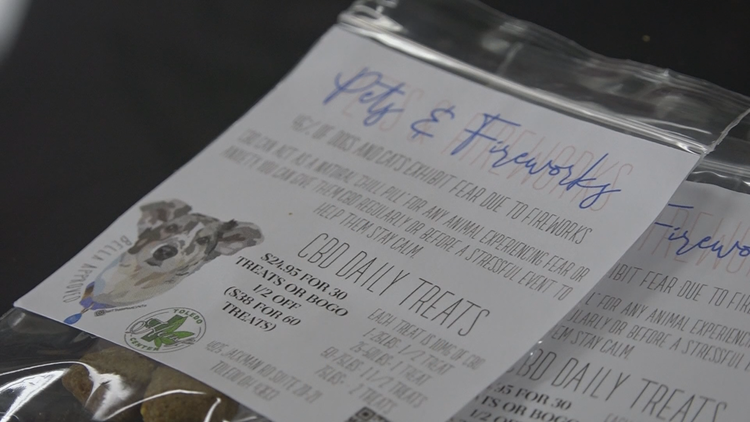 CBD treats for dogs popular during Fourth of July holiday weekend