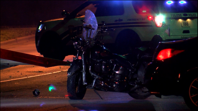 1 in hospital after car vs  motorcycle crash | wtol com