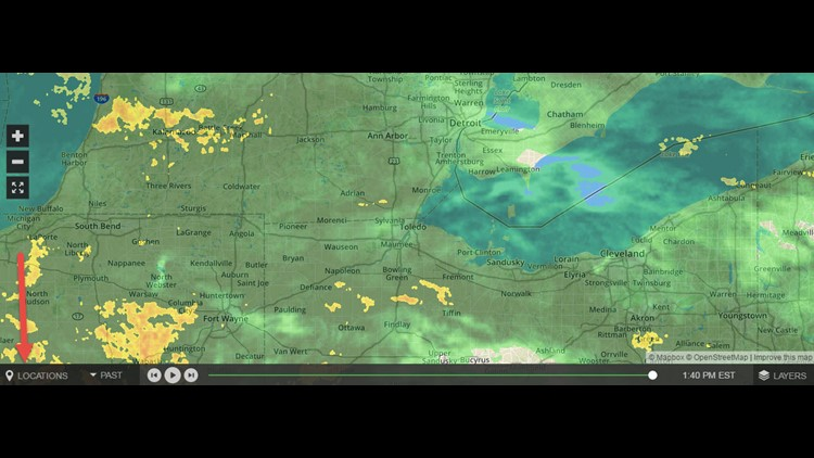 Interactive radar feature has undergone a makeover on WTOL's website