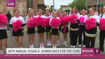 Race for the Cure: Northview cheerleaders have a special message for finishers