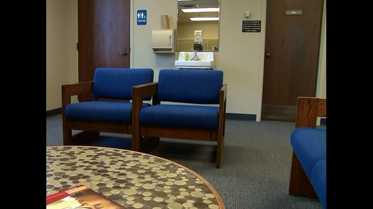 Domestic Violence Waiting Room' created at Toledo Municipal Court