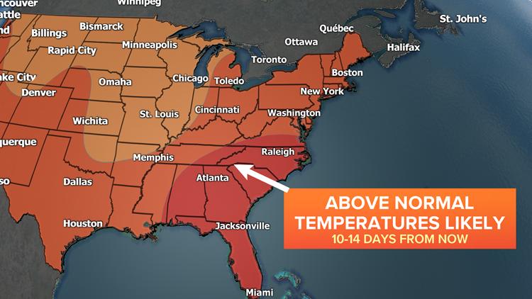 Warm Eastern US