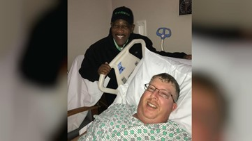 'Slow down & move over': ODOT shares photo of crew member recovering after crash