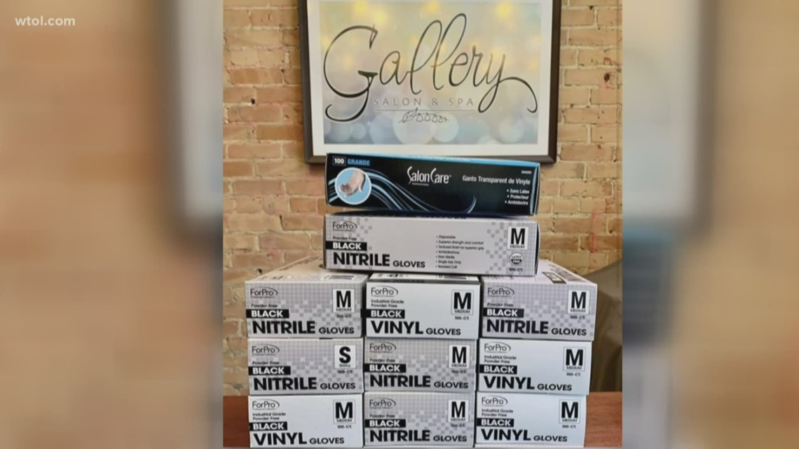 Bowling Green salon donates hundreds of gloves to Wood County Hospital