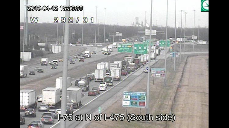 Lanes reopen following crash on I-75 in Wood County | wtol com