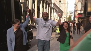 Philadelphia frees John Miller, who was sentenced for a murder he did not commit