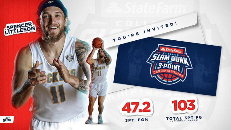 Toledo men's basketball's Littleson to participate in 3-point contest