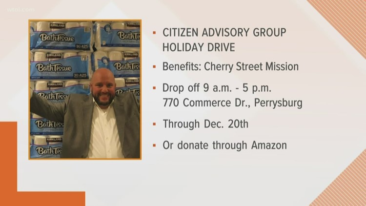 Donate to the Cherry Street Mission at the Citizen Advisory Group Holiday Drive