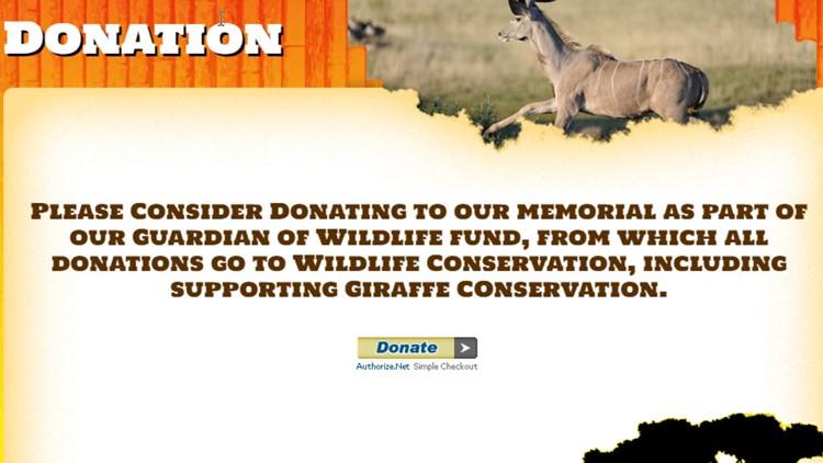 African Safari Wildlife Park donations