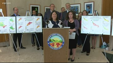 Data and map released by Lucas Co., Toledo show algal bloom-feeding nutrients hot spots