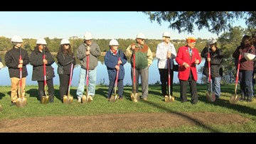 Groundbreaking begins for Gold Star Family monuments in nw Ohio,