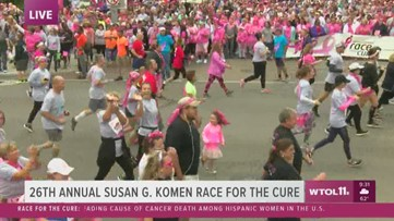 Race for the Cure: The race is underway!