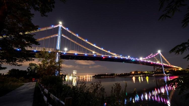 Anthony Wayne Bridge lights up following final ProMedica summer concert