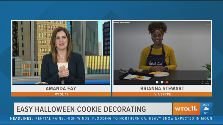 Easy Halloween cookie decorating with Jera's Heavenly Sweet