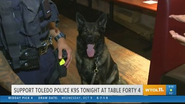 Fundraiser at Table Forty 4 benefits TPD K-9 unit