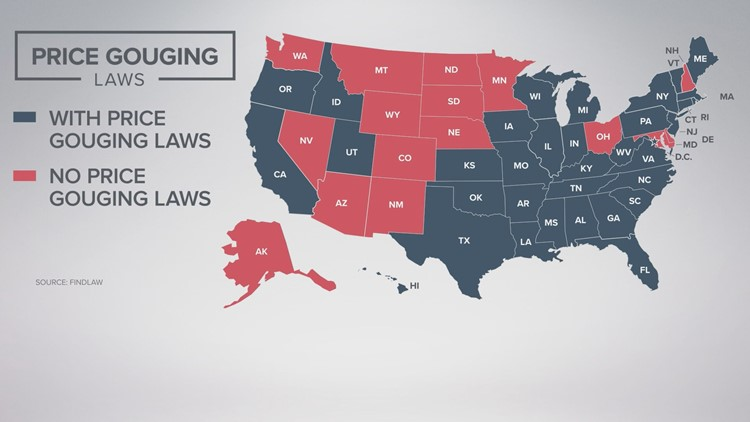 Price Gouging laws by state