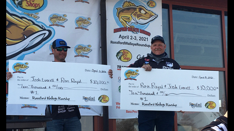 Rossford Walleye Roundup awards over $30,000 to top finishers