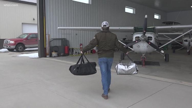 Food flight: BGSU student, Kelleys Island native pilots weekly food delivery to neighbors