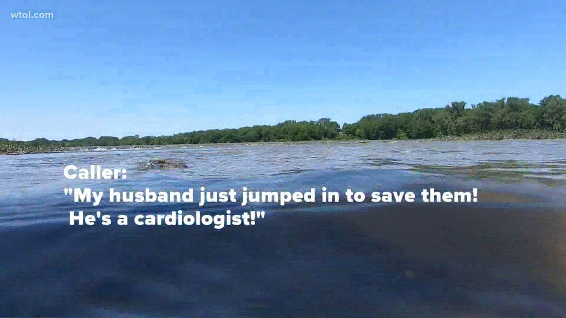 Doctor rescues a father and 3 children from drowning in Maumee River