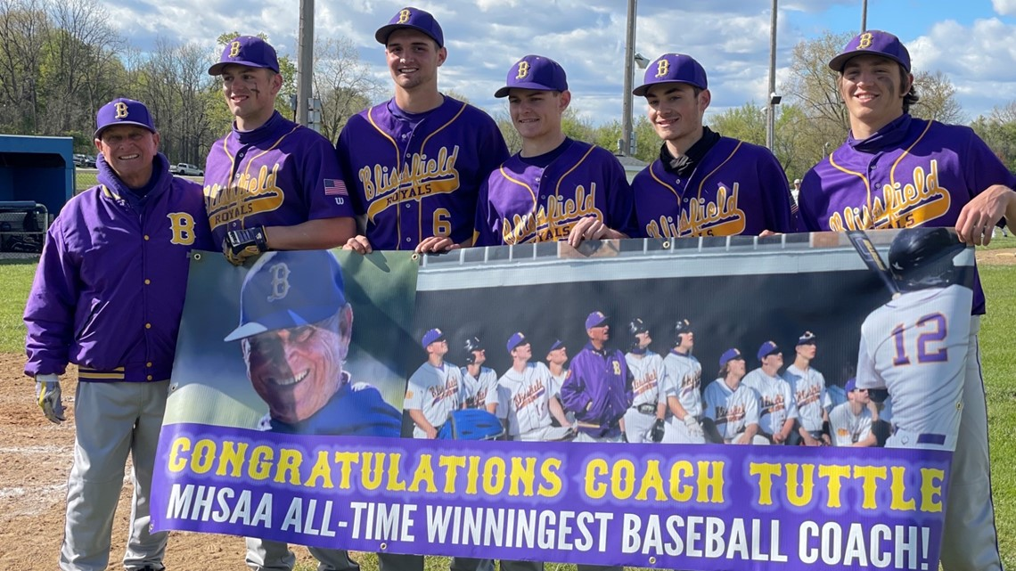 Blissfield's Tuttle becomes Michigan's all-time winningest baseball coach