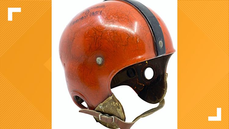 Game-worn helmet from Maumee product, Princeton Heisman winner Dick Kazmaier sells for record amount